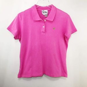 Lily Pulitzer Women's Polo Shirt Collared Size XL
